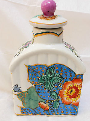 HIGHLY COLLECTIBLE CHINESE PORCELAIN TEA CADDY MARKED HUA RONG TANG