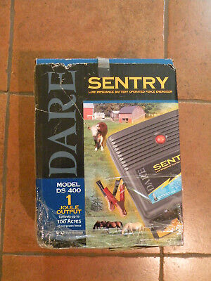 Dare Sentry Ds-400 1 Joule Fence Energizer Controls Up To 100 Acres