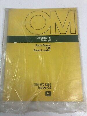John Deere Jd 146 Farm Loader Operators Manual