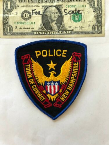 Vintage Conway New Hampshire Police Patch (town of) un-sewn in mint shape