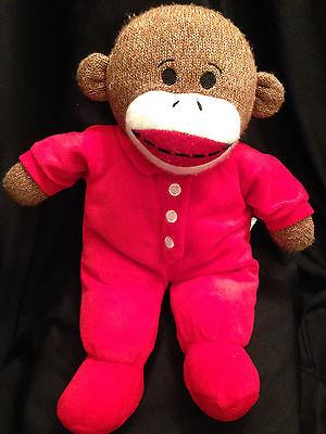 Dan Dee Stuffed Plush Red Pajama Sock Monkey Toy Animal 15 inches (Sock Monkey Pajamas Kids)