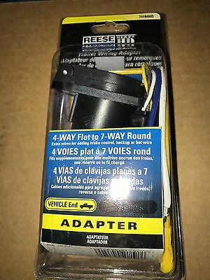 Reese 7 Way Car End Connector Non Rusting Plastic Construction Black 74184HD NEW