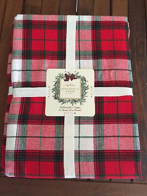 Ridgefield Home TARTAN PLAID Red, Green & White 60
