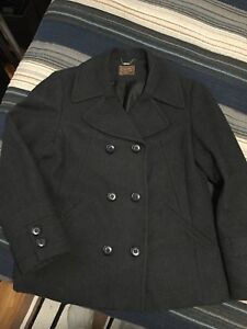 2bfd86c0fa2 Ladies wool blend Pea Coat