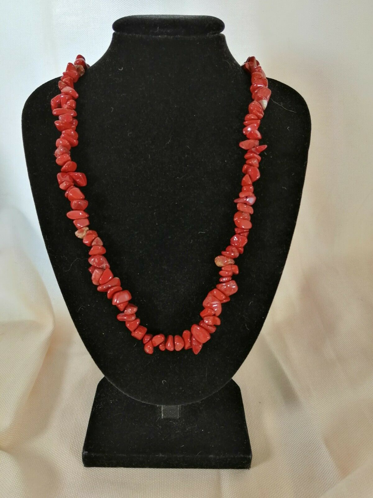 "Red Jasper Chip Necklace 16"" to 34"", Long Necklace, Short Necklace"