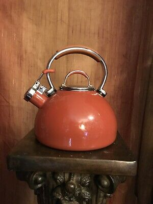 Kitchen Aid Tea Kettle Enamel 2qt Whistling Teakettle with Full Handle