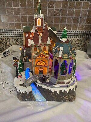 Holiday Living LED Musical Christmas Animated Village, Plays 9 Songs NIB