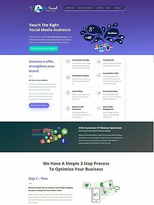 Social Media Marketing Services Provider Website - Business In A Box