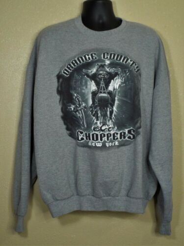 ORANGE COUNTY CHOPPERS MANS SWEATSHIRT, GRAY, SIZE 2X, VERY GOOD CONDITION.