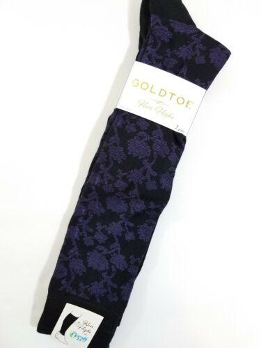 Gold Toe Womens Knee High Socks Rachels Floral Purple Black