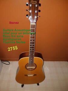Guitare Ibanez et case,  parfait pour débutant