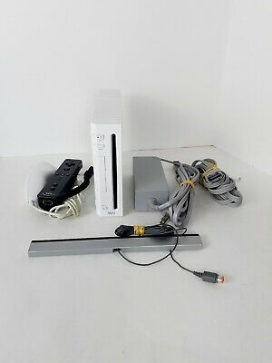 Nintendo Wii White Console RVL-001 Game Cube Compatible Bundle CLEANED TESTED