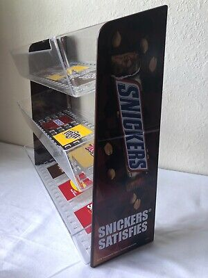 3 Tier Vertical Counter Candy Plastic Display Rack Snickers Dispenser Shelf Tray