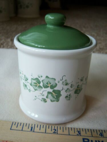 "Corelle Callaway Green Ivy Canister With Sealed Lid 5"" Jay Imports Free Ship"