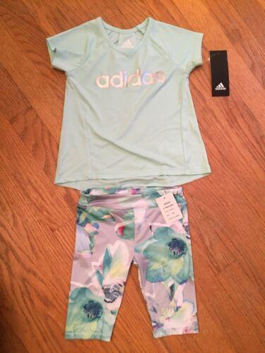 Adidas Baby Girl 18m Leggings & Shirt Outfit NWT Free Shippi