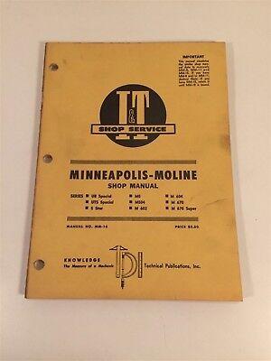 Vintage Implement Tractor Shop Manual - Minneapolis Moline Ub Uts 5 Star M670