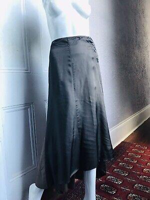 90's Vintage Dries Van Noten Minimalist Long Silk Skirt med. 44