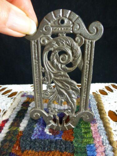 "Antique Keyhole Cover Escutcheon Plate Ornate Victorian 2 1/4"" X 4 1/8"""
