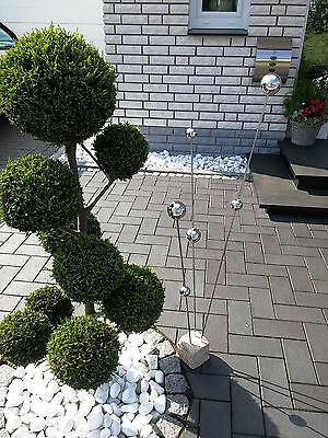 Gartendekoration Gartenstecker Edelstahl deko Skulptur Beet Dekoration  120cm