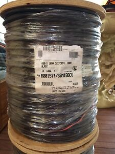 RG6/U Dual Shield Coaxial Cable 18 AWG Solid Copper 1000 FEET