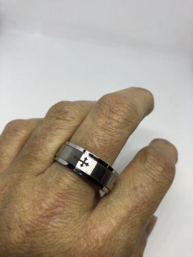 Vintage Cross Stainless Steel Size 11 Men's Wedding Fidget S