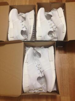 Adidas NMD R1 PK triple white Japan size 10 and 10.5 prime knit