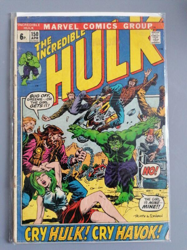"INCREDIBLE HULK No. 150, APR 1972, ""CRY HULK! CRY HAVOC!"" Marvel Comics"