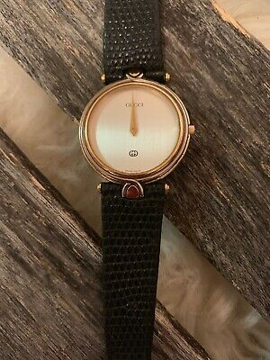 Vintage Gucci 4500M 18K Gold Plated Two-Tone Men's Watch 32 mm Needs Battery