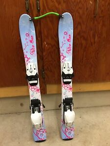 Girls beginner skis and boots