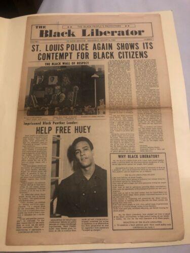 Ultra Rare! The Black Liberator Newspaper 1968 Issue Vol.1 #2 (Short Run)