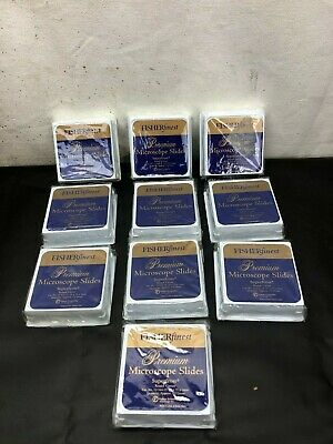 Fisher Scientific 12-544-15 Superfrost Microscope Slides Lot Of 10