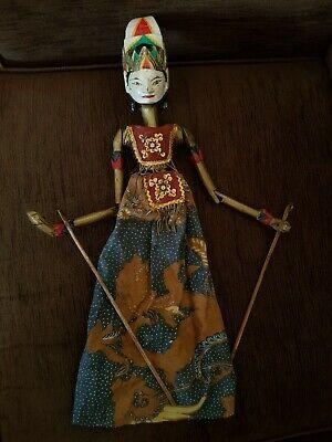 Vintage Asian/Oriental Large Marionette Stick Puppet