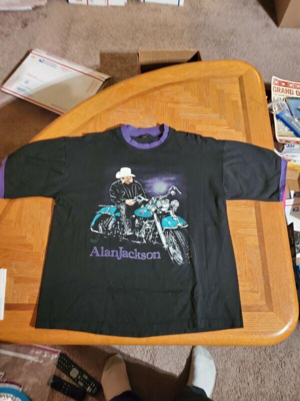 "Vintage Alan Jackson T shirt concert ""Lot Bout` liven n little bout love "" Large"