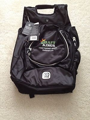 New Ogio Big Draftkings Ultimate Backpack Black 2014 Rare Bookbag New With Tags