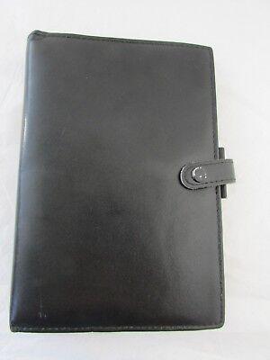 Vintage Black Filofax Of England Lincoln Genuine Leather Filofax Organizer