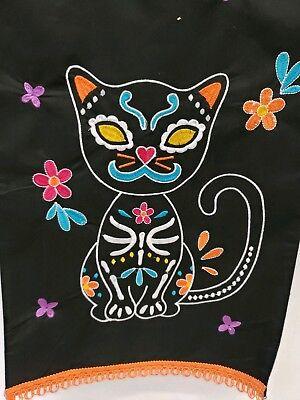 Sugar skull Cat  Black Runner  (Sugar Skull Cat)