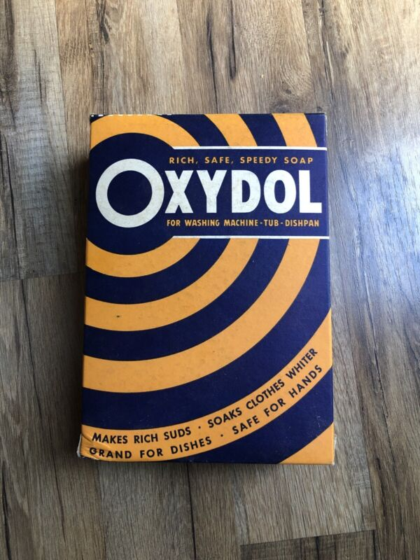 """New Sealed Antique Vintage OXYDOL 8.5"""" Tall Laundry Detergent BOX Soap Washing"""