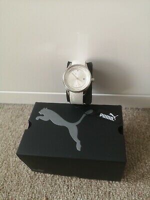 Puma Motorsport Womens Wheel small white watch PU102732001 New See Description