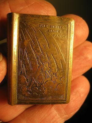 Vintage Brass NUDE Match Box Holder The White Man's Fancy Souvenir NIAGARA FALLS