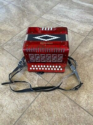 Used Scarlatti 2-Row B/C Diatonic Button Accordion/Melodeon, in Mint Condition!