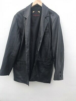 Mens Stunning leather jacket Coat Size Med By Sardar Of London Lovely Lini
