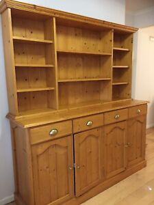 Timber hutch buffet sideboard shelf (4 door)