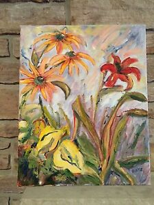 Summer flowers OIL on canvas painting