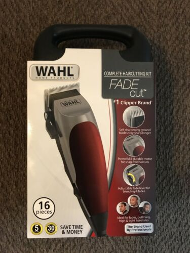 New WAHL Fade Cut 16 Piece Haircutting Kit Hair Trimmers Cli
