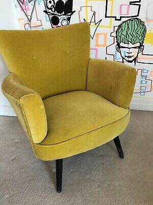 Armchair In Mustard Colour
