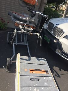 Miter Saw 12- inch with table and 10- inch Table Saw