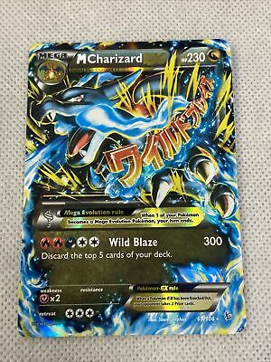 2014 Pokemon XY M CHARIZARD EX Holo Flashfire Ultra Rare 69/106 NEAR MINT