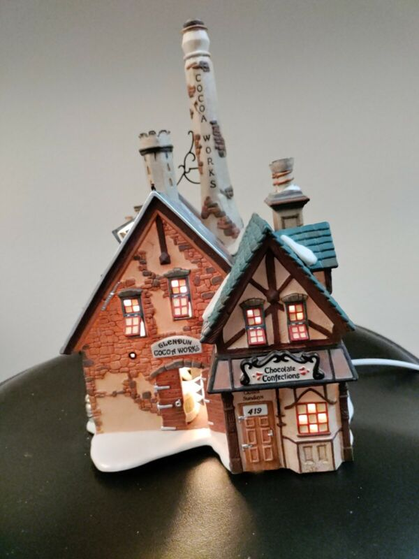 """Department 56 Heritage Collection Dickens Village Series """"Glendun Cocoa Works"""""""