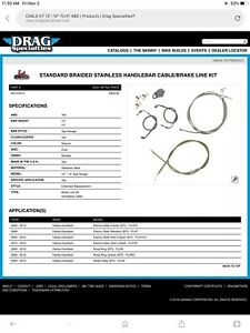 Harley Davidson touring cable extension kits