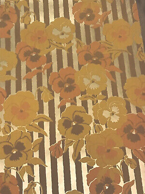 Floral Prepasted Vtg MK5145 Run 5 /& 8 s C A Wallcoverings Wallpaper Double Roll